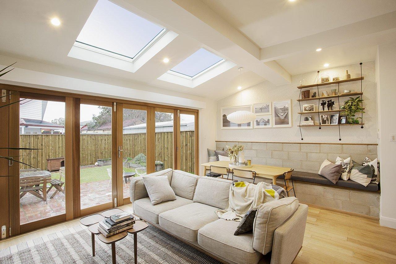 Living Room with a Sky Window